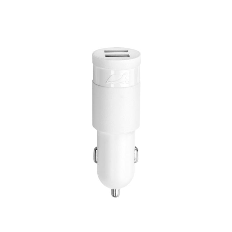 Автомобильное зарядное устройство RIVAPOWER VA4222 W00 белое 2,4A / 2USB, без кабеля