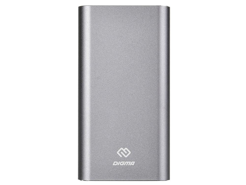 Мобильный аккумулятор Digma DG-ME-15000 Li-Pol 15000mAh 3A темно-серый 1xUSB цены
