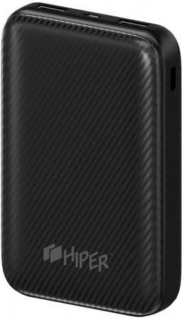 Фото - Внешний аккумулятор Hiper SPX10000 Black соединитель для шинопроводов l образный внешний 09763 uniel ubx a21 black