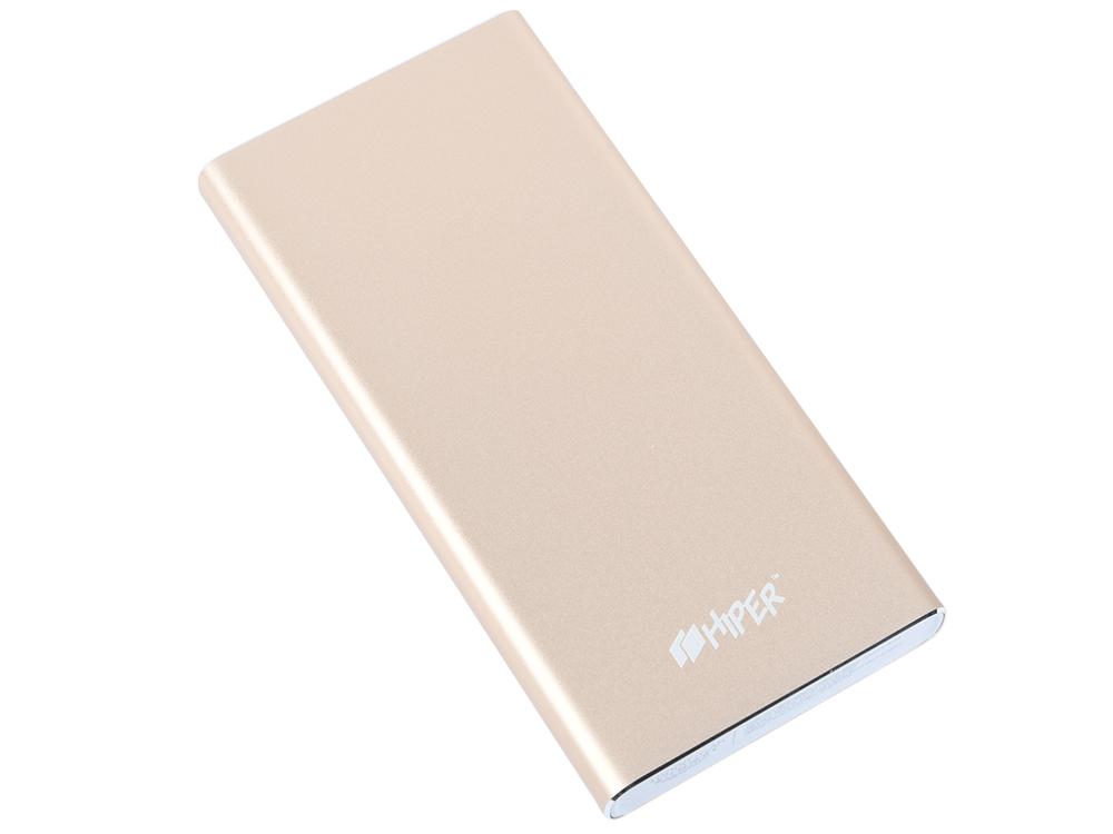 Внешний аккумулятор HIPER MPX10000 10000 мАч золотистый внешний аккумулятор buro ra 10000pd gn panda 10000 мач зеленый