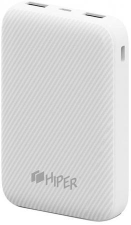 Внешний аккумулятор Hiper SPX10000 White внешний аккумулятор hiper mp10000 black