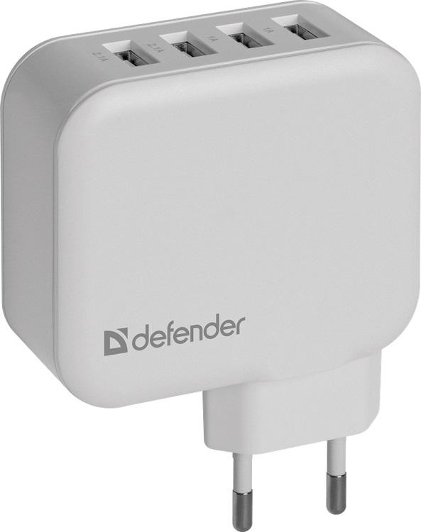 Сетевое зарядное устройство Defender UPA-60 4 порта USB, 5V / 6.2А 83544 сетевое зарядное устройство defender upa 40 5а 4 x usb черный