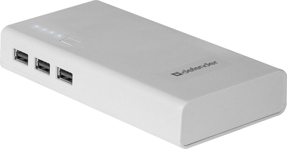 Внешний аккумулятор Defender Lavita 10000E 3 USB, 10000 mAh, 2.1A 83647 внешний аккумулятор defender lavita 6000b 1 usb 6000 mah 2 1 a