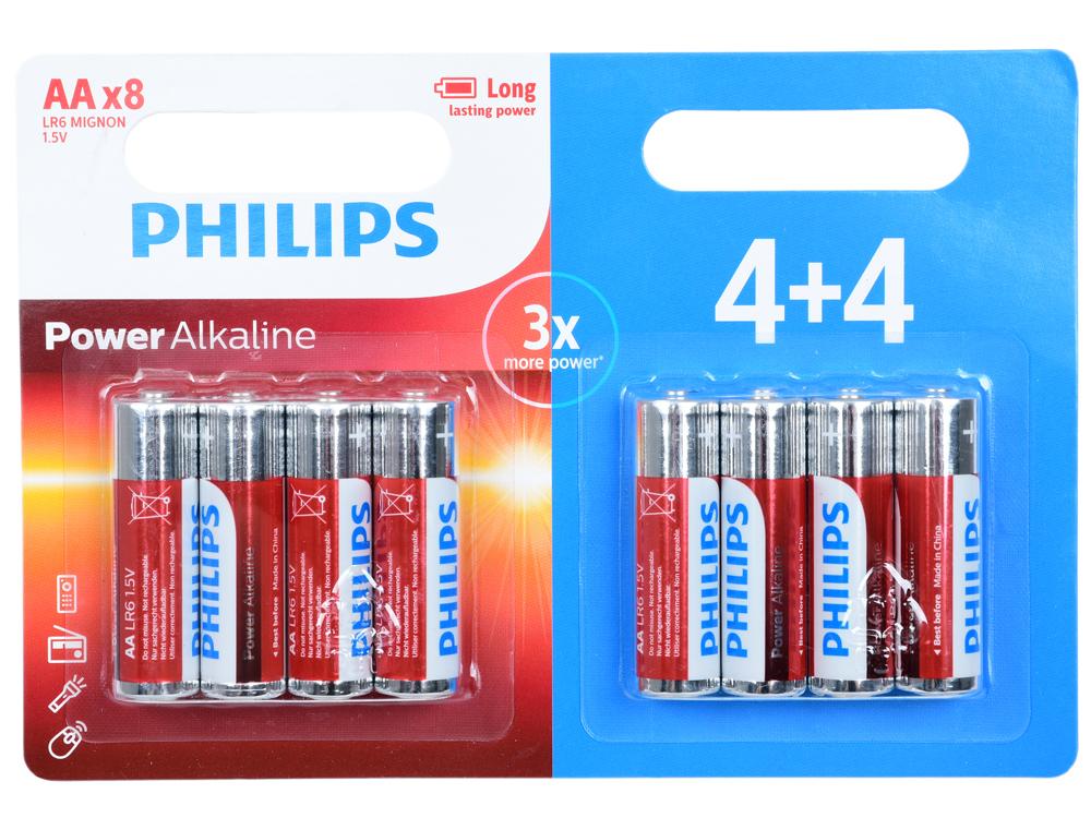 Батарейки Philips LR6P8BP/10 (AA) Power щелочные (блистер 8 шт) aa page 8