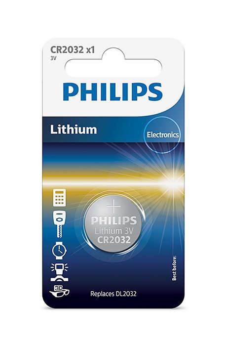 Батарейка Philips CR2032/01B Lithium 3.0V (блистер 1 шт)