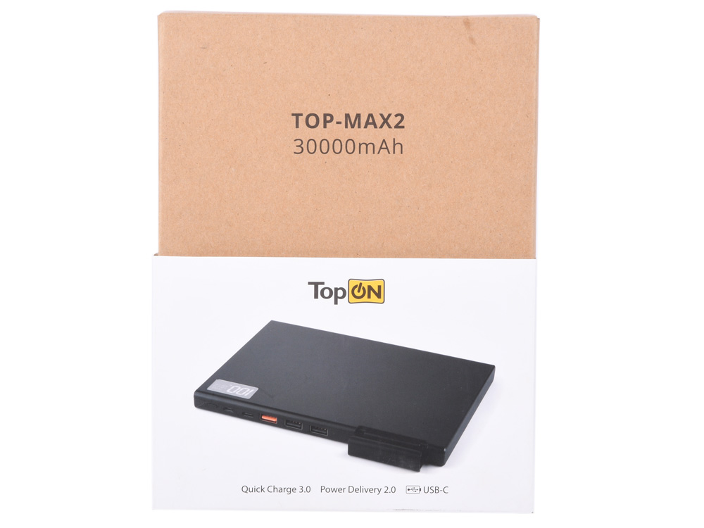 Фото - Внешний аккумулятор TopON TOP-MAX2/W 30000мАч USB-C Quick Charge 3.0, 3 USB порта, компл. Кабелей, Цвет белый внешний аккумулятор pisen ts d186 белый
