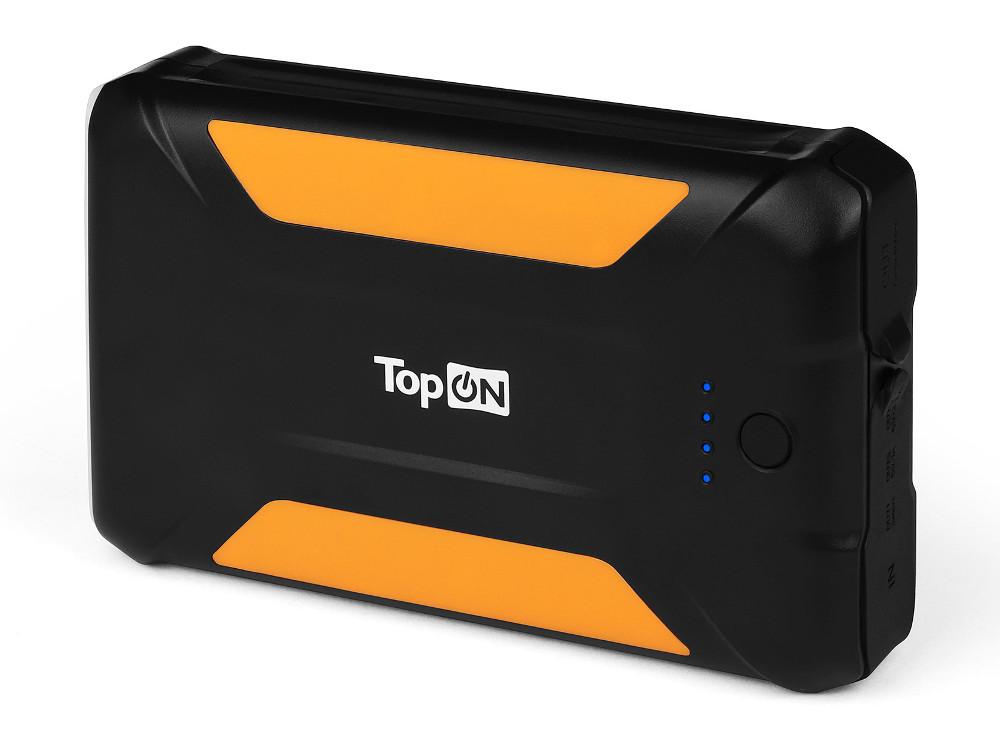 Внешний аккумулятор TopON TOP-X38 черный 38000мАч 3 USB, Защита от попадания пыли и брызг универсальный внешний аккумулятор topon top t72 w 18000mah 66 6wh с 2 usb портами и qc 2 0 для зарядки ноутбука белый