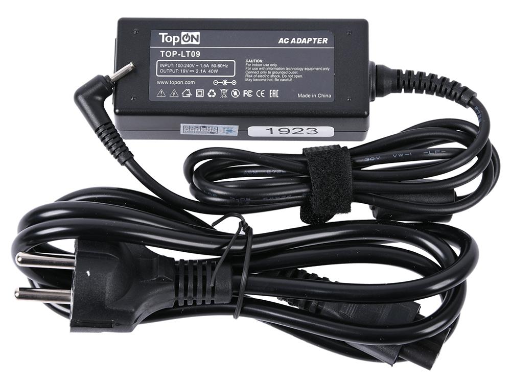 Зарядное устройство для нетбука TopON TOP-LT09 Asus Eee PC X101, 1001, 1005, 1008, 1015, 1215, R105, VX6 Series. 19V 2.1A все цены