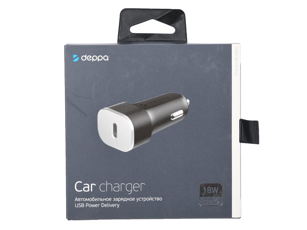 Фото - Автомобильное зарядное устройство Deppa 11289 USB Type-C, Power Delivery, 18Вт, черный зарядное устройство космос koc509