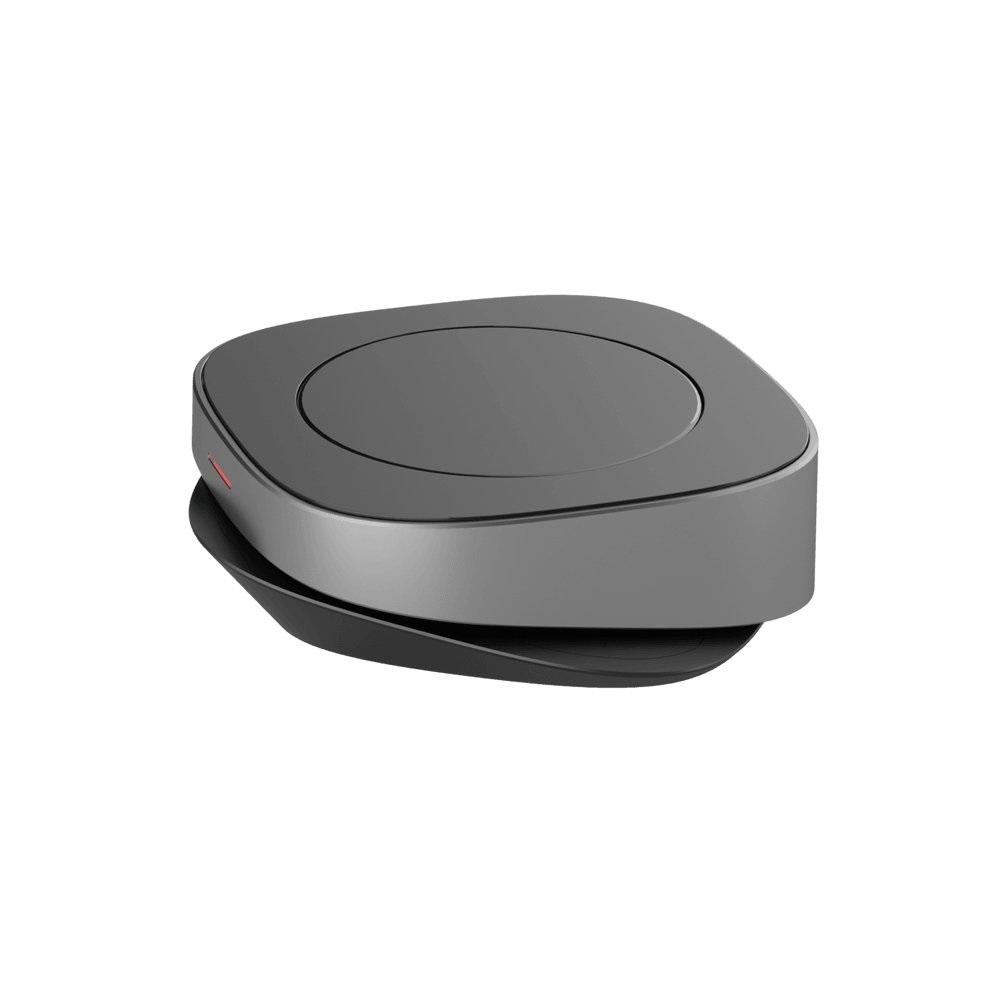 Беспроводное зарядное устройство Deppa Qi Fast Charger 15W, Apple 7.5W, стандарт Qi, черный/графит