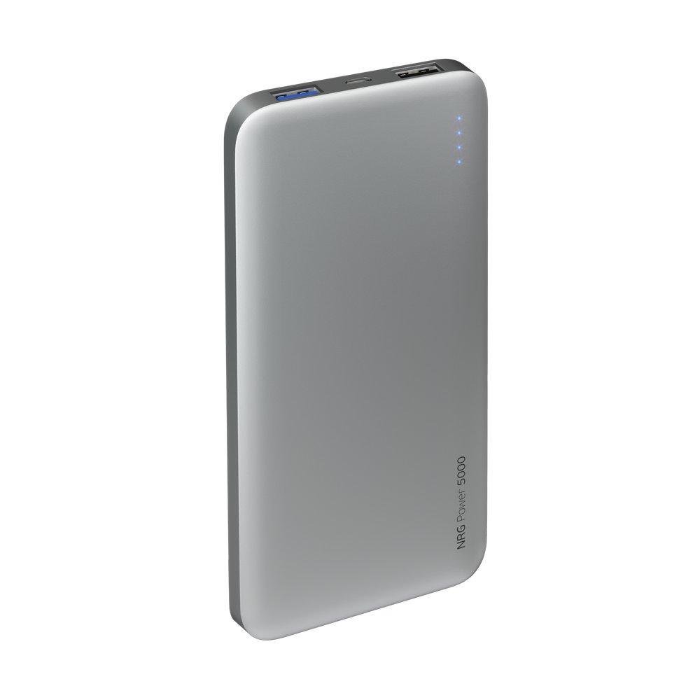Внешний аккумулятор Deppa NRG Power 5000 mAh, 2.1A, 2xUSB, графит