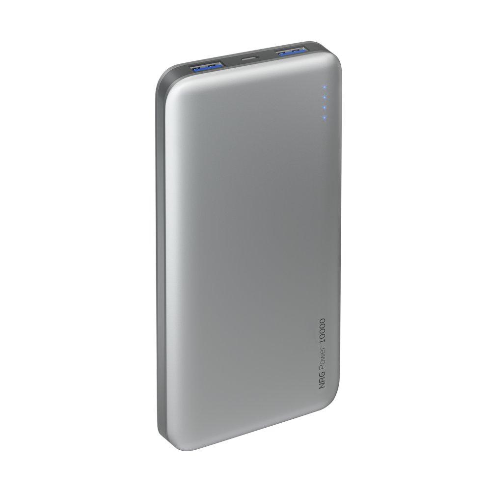 Внешний аккумулятор Deppa NRG Power 10000 mAh, 2.1A, 2xUSB, графит внешний аккумулятор samsung 10000 mah eb p3000c темно синий