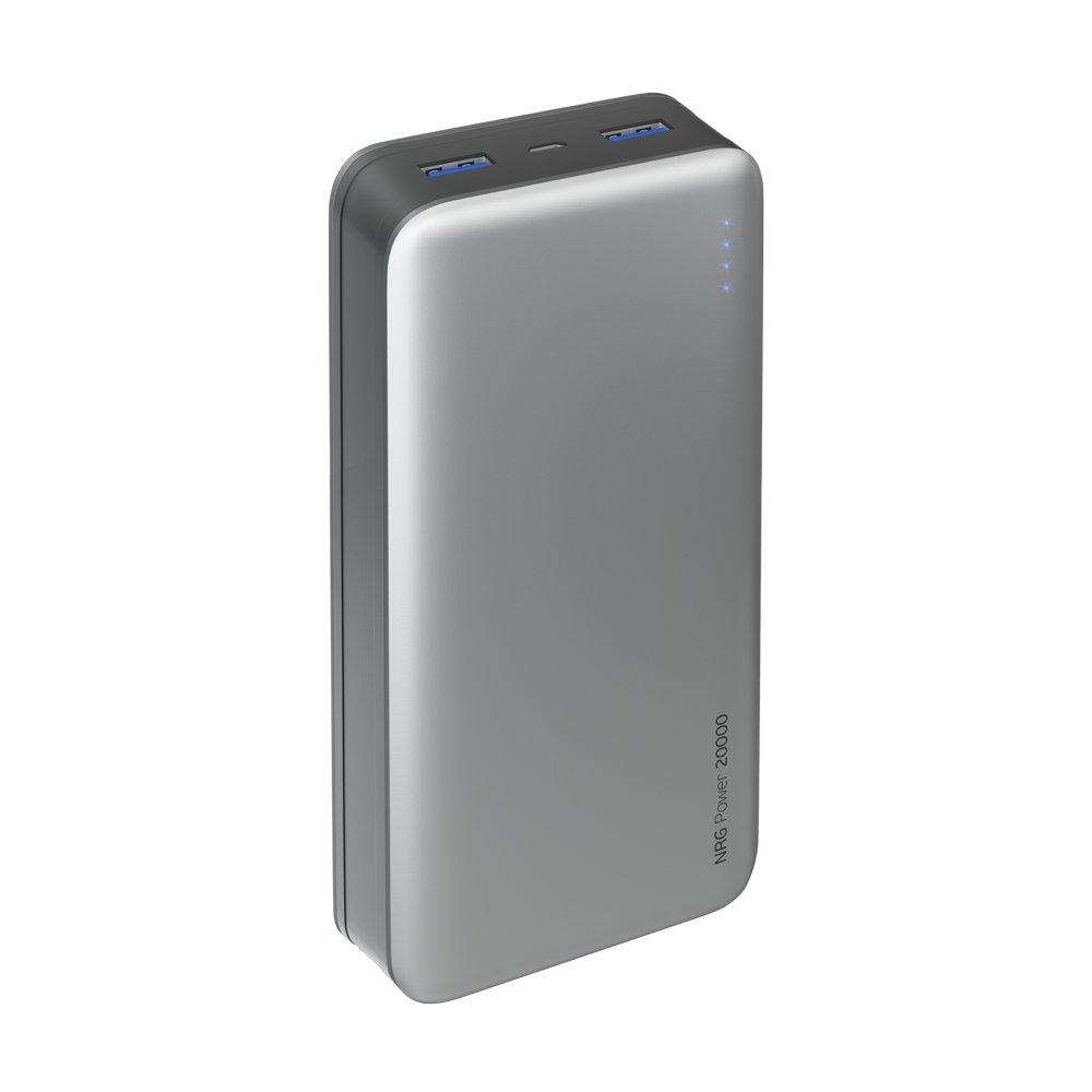 Внешний аккумулятор Deppa NRG Power 20000 mAh, 2.1A, 2xUSB, графит аккумулятор hoco j29b cool square 20000 mah black