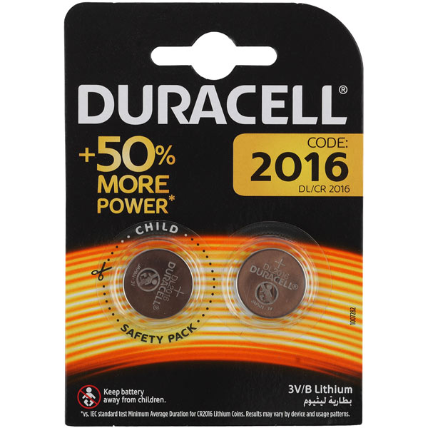 Батарейки Duracell DL/CR2016-2BL