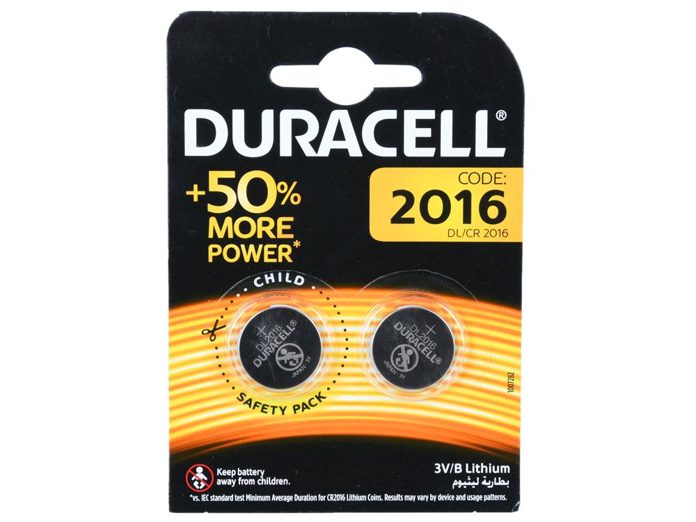 Батарейки Duracell DL/CR2016-2BL батарейки duracell 2bl lr14 2 шт
