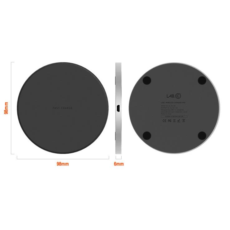 Беспроводное зарядное устройство LAB.C Wireless Fast Charging Pad. Цвет черный. цена и фото