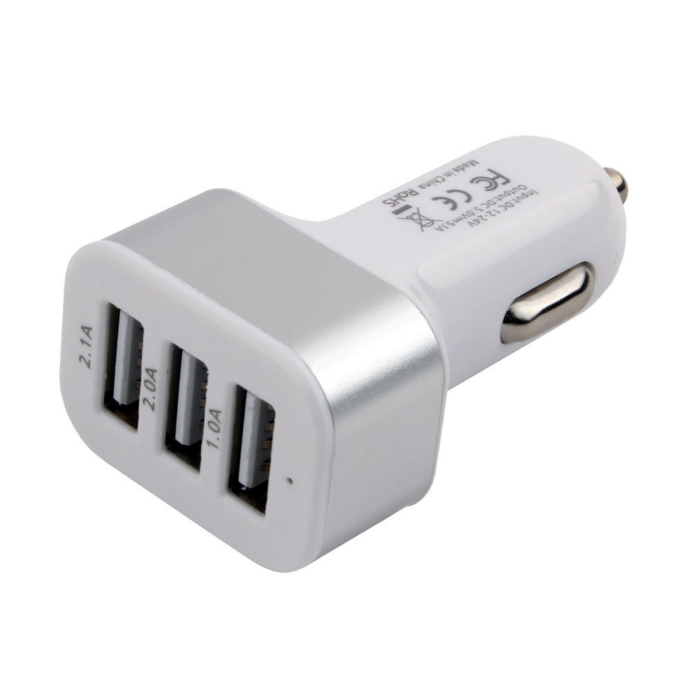 Адаптер питания Cablexpert MP3A-UC-CAR17, 12V->5V 3-USB, 2.1/2/1A