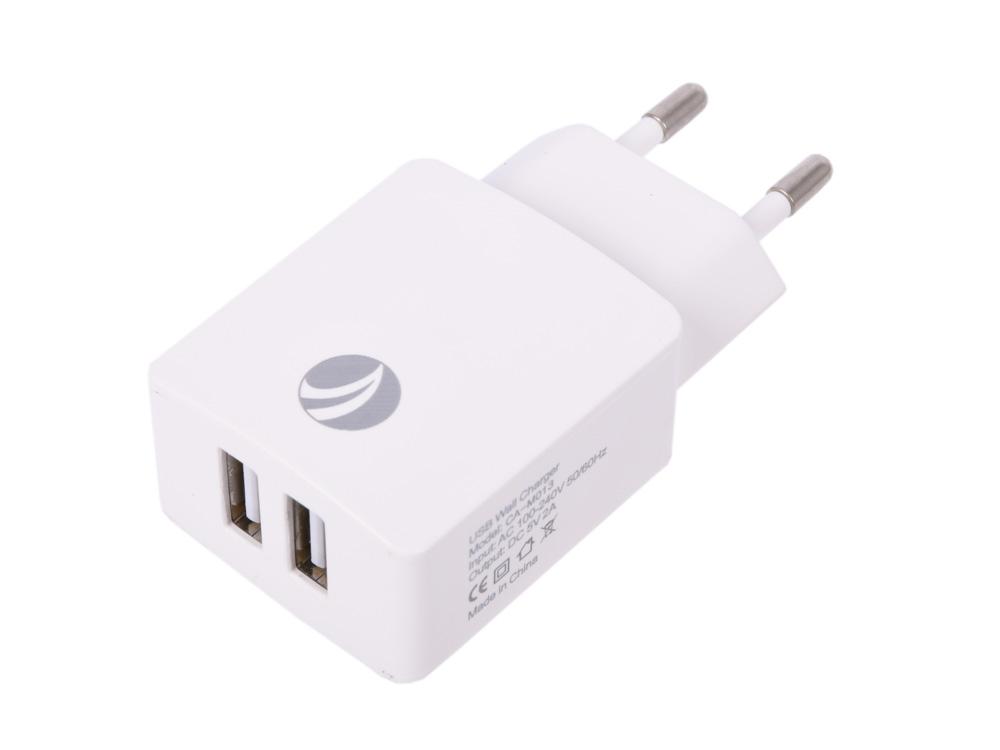 Фото - Зарядное устройство VCOM CA-M013 белый 2xUSB 2A зарядное устройство vcom cad526 microusb