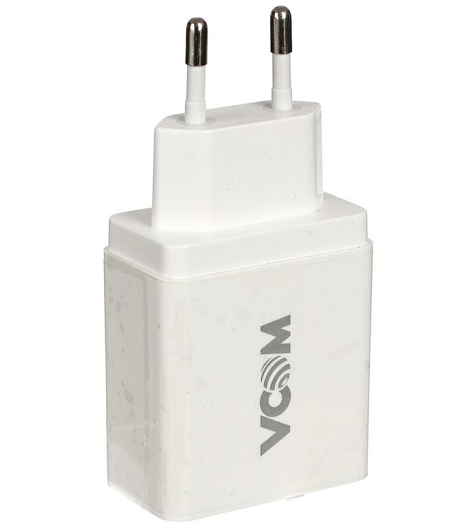Фото - Зарядное устройство AC VCOM M042/CA-M042 (EU Plug 100-220V) - USB, IC, Quick Charge 3.0 2pcs cy7c68013a 56ltxc qfn 56cy7c68013a 56 qfn ez usb fx2lp usb microcontroller high speed new and original ic free shipping