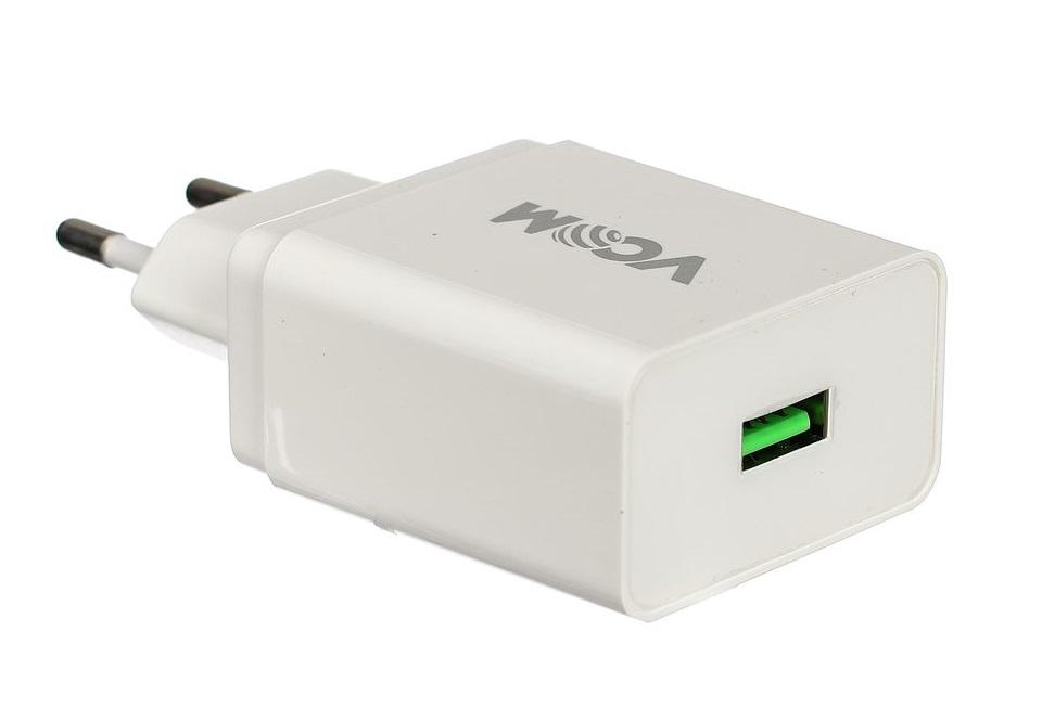 Фото - Зарядное устройство AC VCOM M042/CA-M042 (EU Plug 100-220V) - USB, IC, Quick Charge 3.0 беспроводное зарядное устройство vcom cad m162