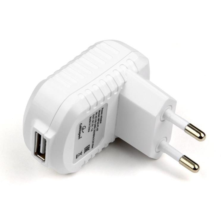 Зарядное устройство Cablexpert MP3A-PC-07 220V - 5V USB 1 порт, 1A, белый зарядное