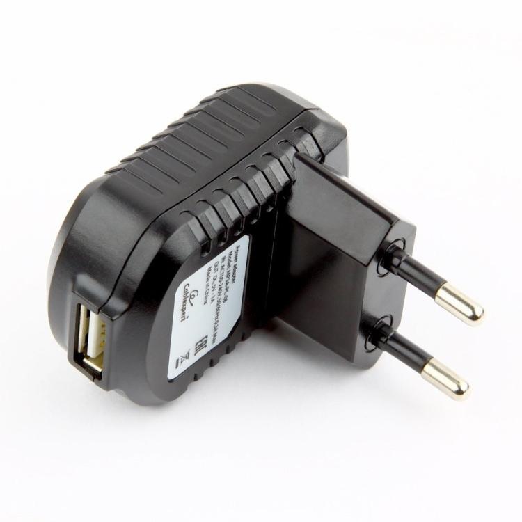 цена на Зарядное устройство Cablexpert MP3A-PC-08 220V - 5V USB 1 порт, 1A, черный
