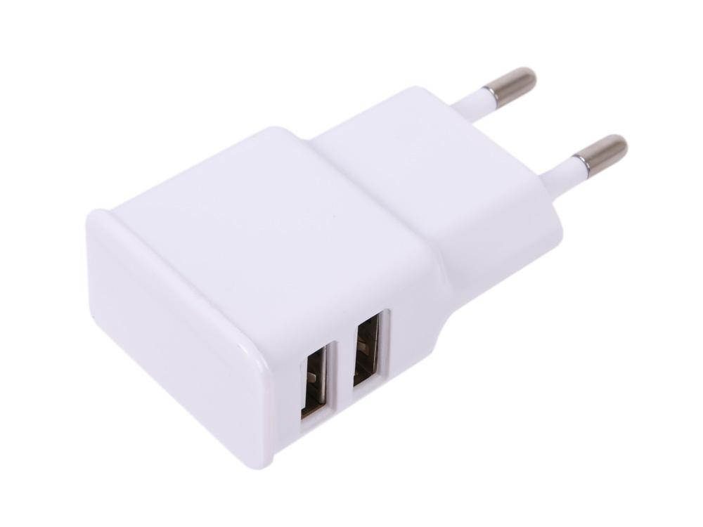 Зарядное устройство Cablexpert MP3A-PC-11 220V - 5V USB 2 порта, 2.1A, белый зарядное устройство 13000mah adapers tablet pc 000005005