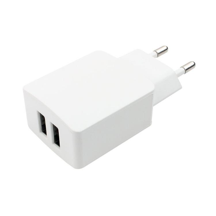 Зарядное устройство Cablexpert MP3A-PC-13 220V - 5V USB 2 порта, 2.1A, белый стоимость