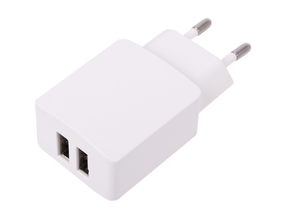 Зарядное устройство Cablexpert MP3A-PC-13 220V - 5V USB 2 порта, 2.1A, белый цена и фото