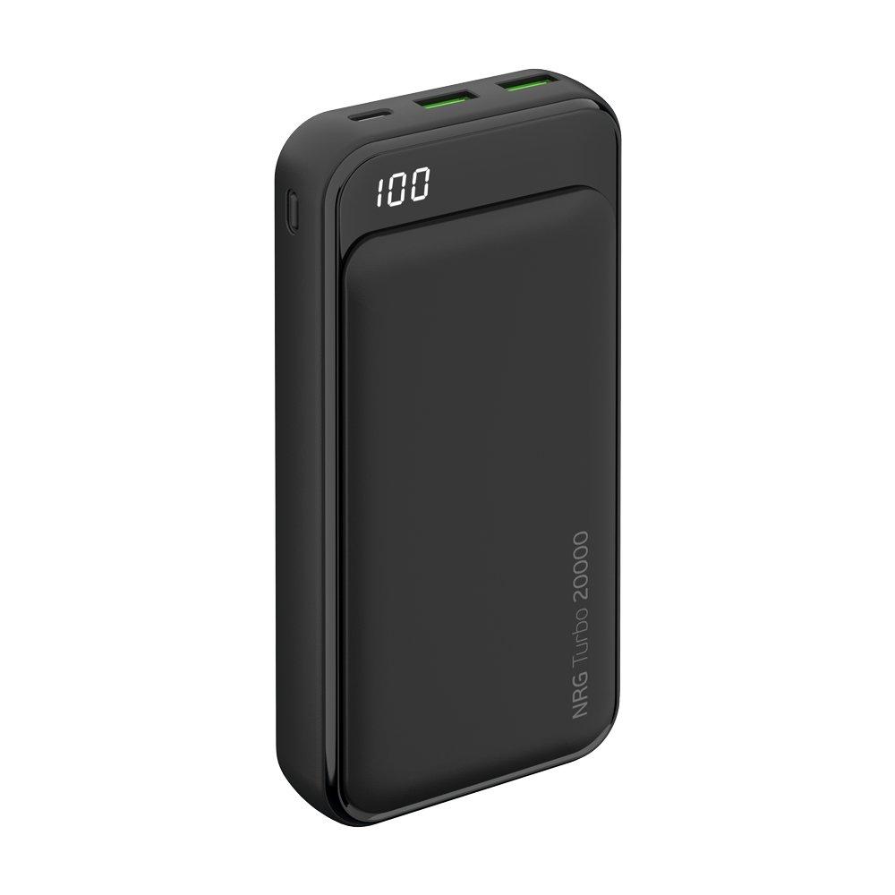 Фото - Внешний аккумулятор NRG Turbo Compact (33556) 20000 мАч, QC/PD 3.0 18W, LED экран внешний аккумулятор pb14x black 14000 мач