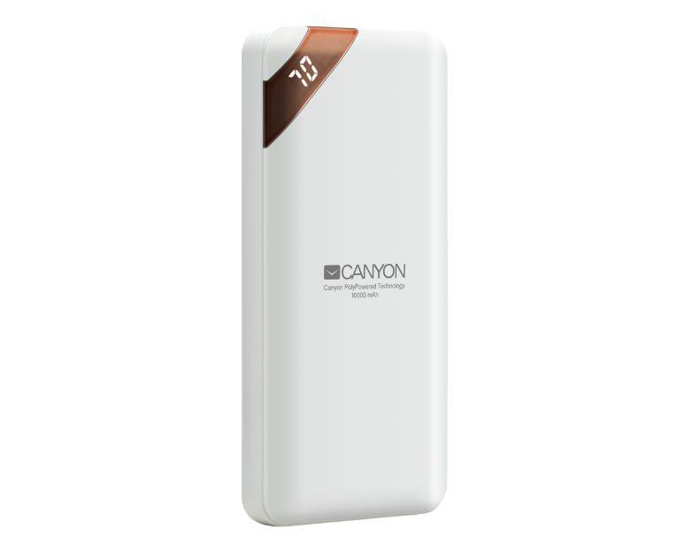 Фото - Внешний аккумулятор Canyon CNE-CPBP10W White аккумулятор