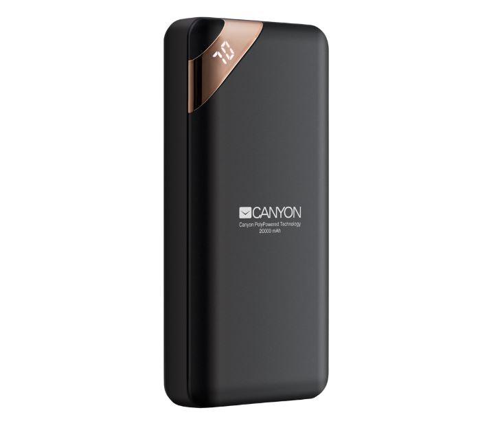 Фото - Внешний аккумулятор Canyon CNE-CPBP20B Black 2.1 A, 20000mAh, Li-pol внешний аккумулятор hiper spx10000 black