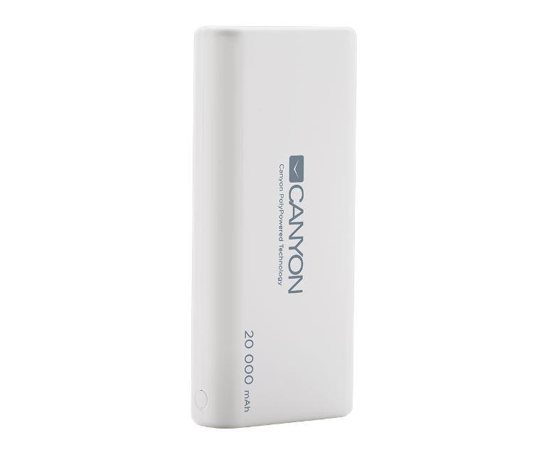 Внешний аккумулятор Canyon CNS-CPBP20W White аккумулятор