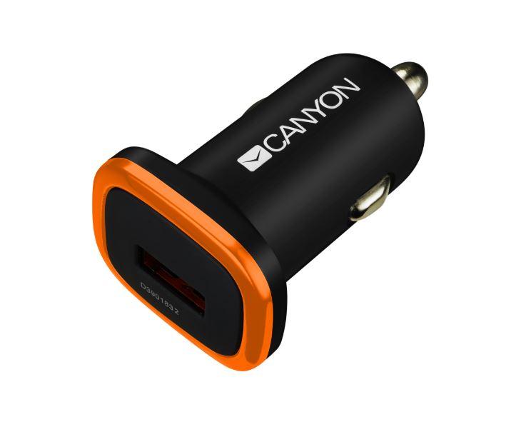 цена на Автомобильное зарядное устройство Canyon CNE-CCA01B