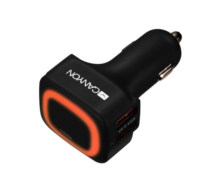 Фото - Автомобильное зарядное устройство Canyon CNE-CCA05B Black 4 x USB, 4.8 А зарядное устройство зубр 59253 4
