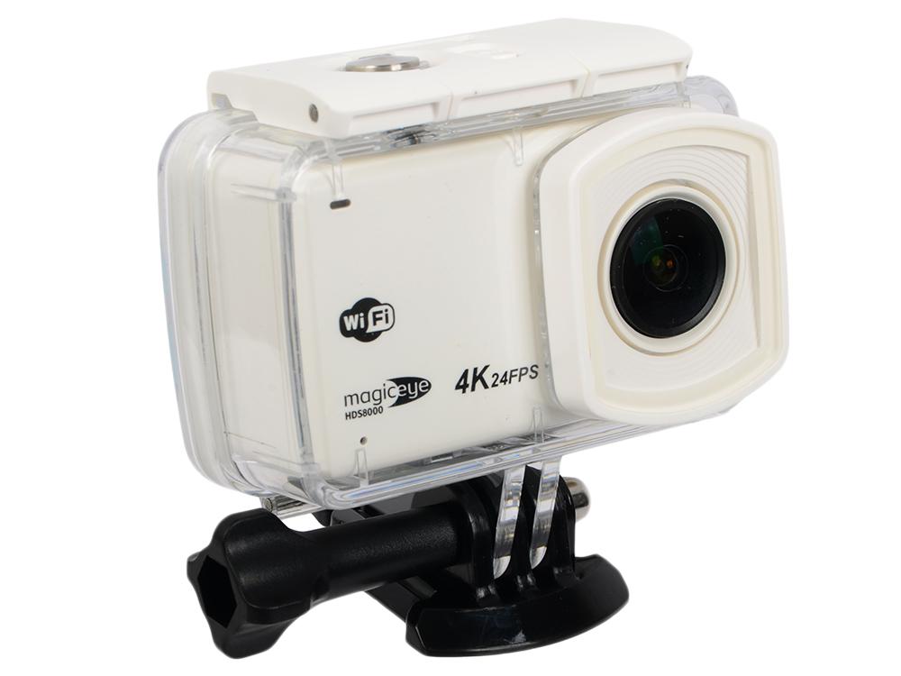 "Экшн-камера Gmini MagicEye HDS8000 White Мото/Вело/Авто/Спорт, водонепроницаемый, 4K, 24fps, 12 MPx, LCD экран 2.45""+touch, Wi-Fi; HDMI выход"