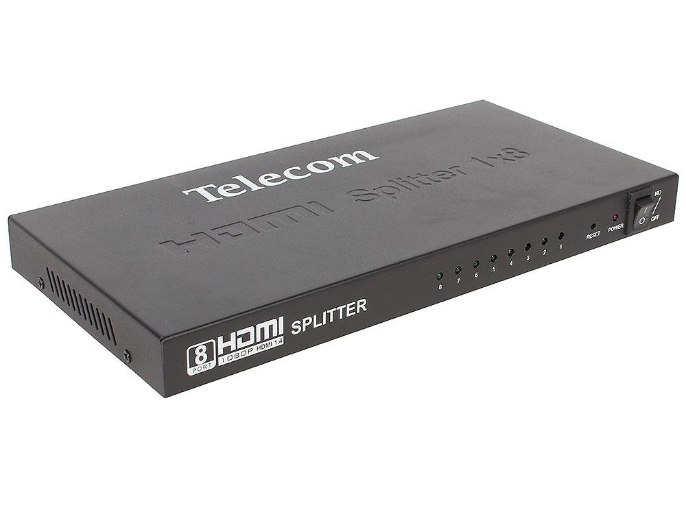 Фото - Разветвитель HDMI 1=)8 Telecom (TTS5030), каскадируемый , 1.4v+3D разветвитель для гирлянд умс luazon lighting 2w нить белая 1 вход 9 выходов