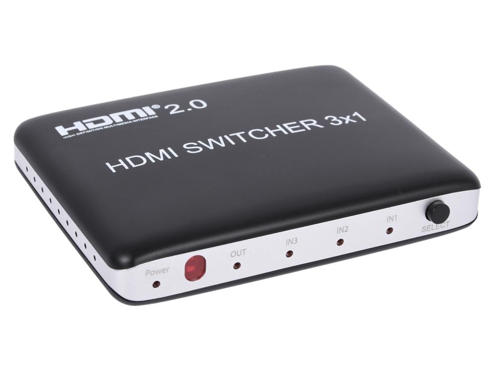 Фото - Переключатель Orient HS0301H-2.0 Black HDMI 4K Switch 3 - 1, HDMI 2.0/3D, HDR, UHDTV 4K/ 60Hz (3840x2160)/HDTV1080p переключатель hdmi 3 1 telecom tts6030