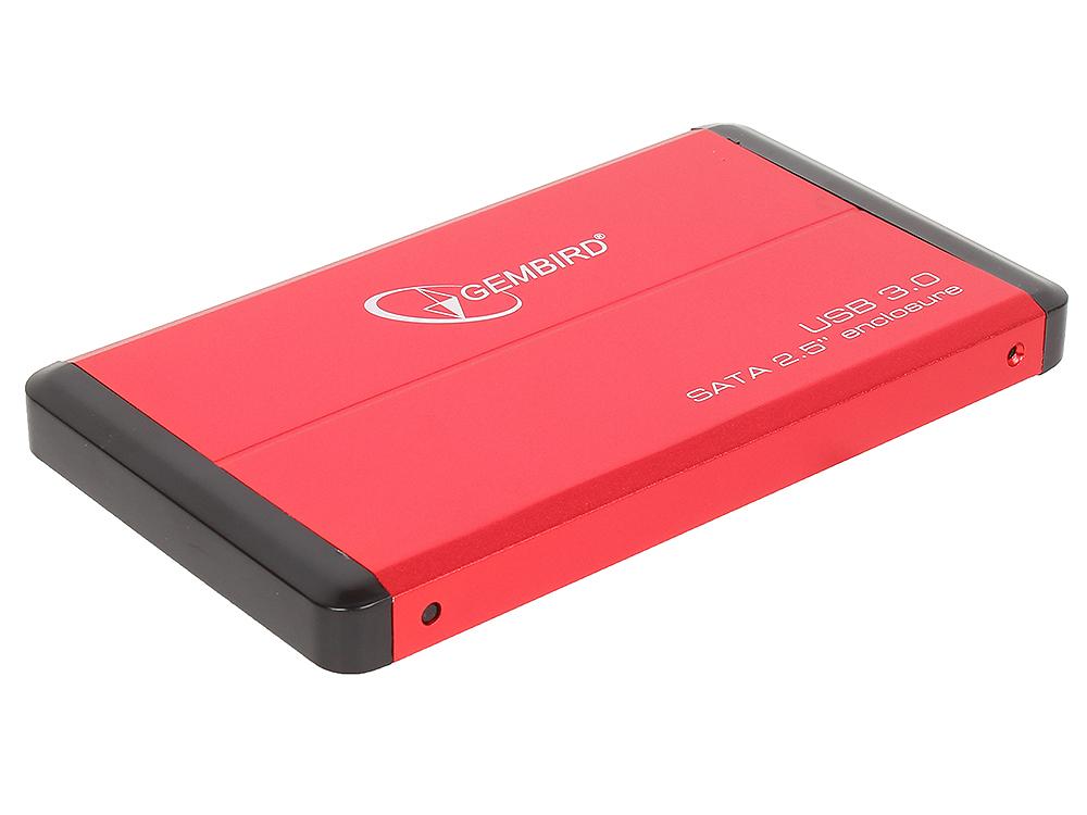 все цены на Внешний бокс HDD/SSD 2.5 Gembird EE2-U3S-2-R Корпус Red / Алюминий / USB 3.0 / USB 3.1 Gen 1 / SATA
