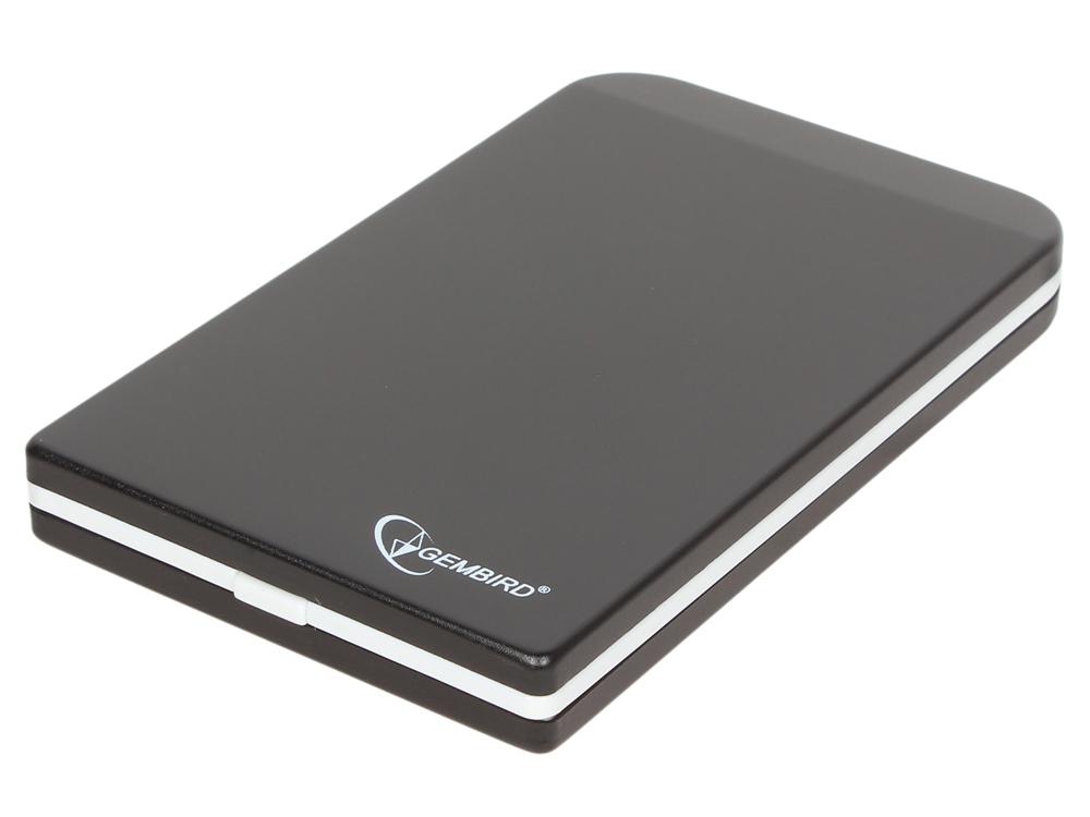 """Внешний корпус 2.5"""" Gembird EE2-U2S-42, черный, USB 2.0, SATA, металл"""