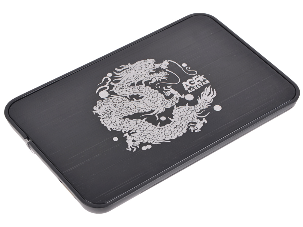 Внешний корпус 2.5 SATA AgeStar 3UB2A8 (BLACK), сталь+пластик, черный, безвинт конструкц, USB 3.0 мобил рек agestar 3ub2o8 usb 3 0 to 2 5hdd sata алюминий