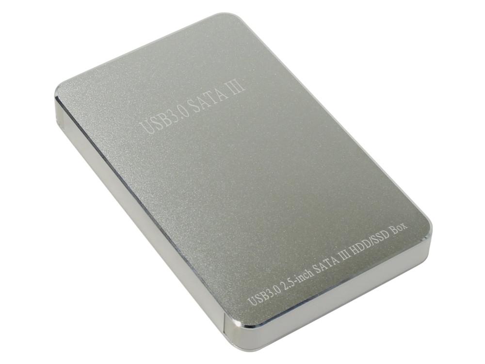Мобил рек USB3.0 Orient 2568 U3, для 2.5 HDD SATA, алюм.+пластик, серебристый мобил рек agestar 3ub2o8 usb 3 0 to 2 5hdd sata алюминий