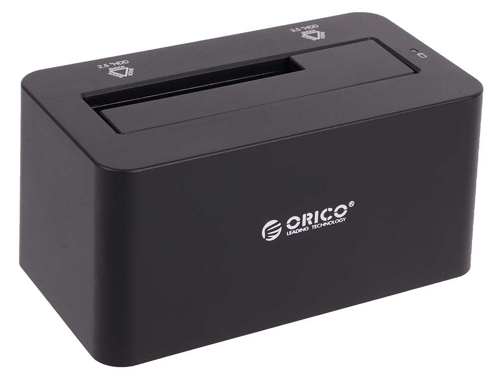 Док-станция HDD/SSD 2.5/3.5 Orico 6619US3-BK Бокс Black / Пластик / USB 3.0 / USB 3.1 Gen 1 / SATA III цена