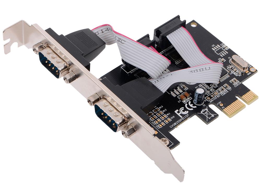 Контроллер Orient XWT-PE2S, PCI-E - 2xCOM, ret контроллер atcom pci e parallel serial at16082