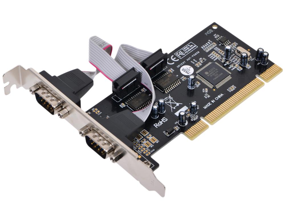 Контроллер Orient XWT-PS050 ОЕМ PCI - 2xCOM, Moschip 9865 контроллер pci e ms9922 2xcom bulk [asia pcie 2s]