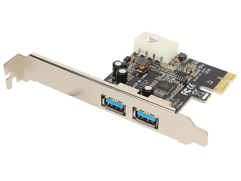 Контроллер Orient NC-3U2PE (PCI-E, 2 Port USB 3.0, доп разъём питания, NEC UPD720200) Ret стоимость