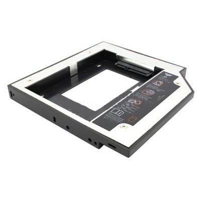 "Адаптер оптибей Espada SS12,12.7 mm (optibay, hdd caddy) SATA/miniSATA (SlimSATA) для подключения HDD/SSD 2,5"" к ноутбуку flash hdd плееры"