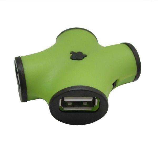 цена на Концентратор USB 2.0 CBR CH-100 Green (4 порта)