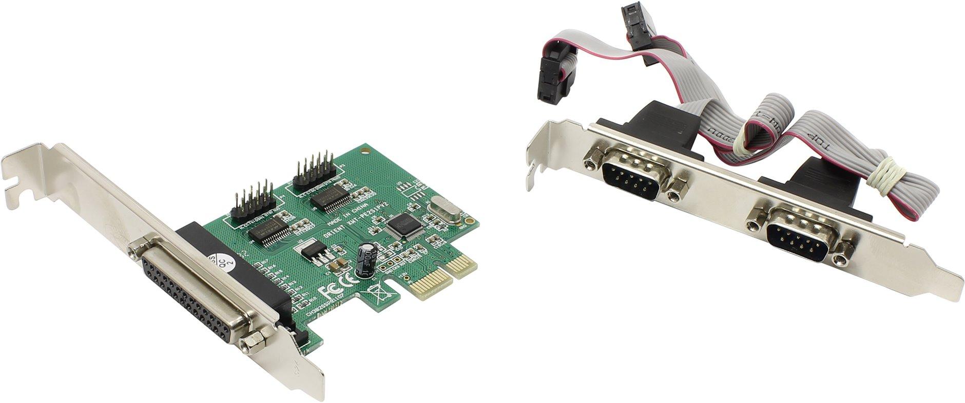 купить Контроллер ORIENT XWT-PE2S1PV2, PCI-E to COM 2-port + LPT 1-port (WCH CH382) Ret онлайн
