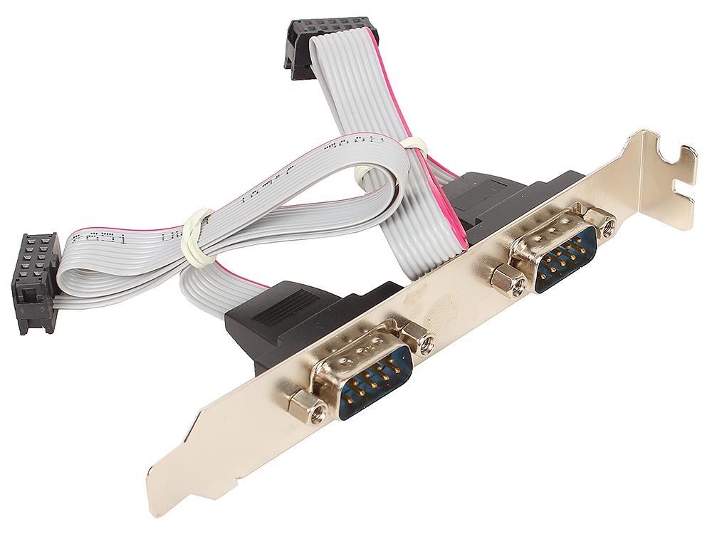 Планка портов в корпус 2xCOM DB9 Male, Orient (C088) oem разветвитель питания orient dc 8p для камер видеонаблюдения 1пит 8пит oem